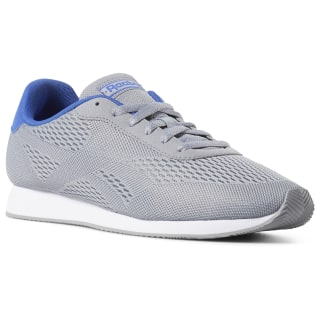 Tênis Reebok Royal Classic Leather Jg 2Px cool shadow / cold grey / crushed cobalt / white CN7238