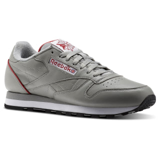 Classic Leather ARCHIVE Light Solid Grey/White/Power Red/Black CN0723