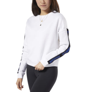 Training Essentials Logo Crew Sweatshirt White FI4818