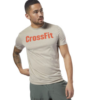 T-shirt Reebok CrossFit SpeedWick F.E.F T-shirt Graphic Beige DH3708
