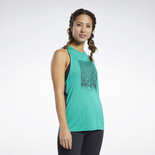 Cardio Graphic Tank Top Emerald EB8109