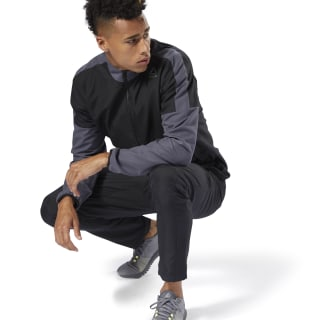 Woven Track Suit Black CY4926