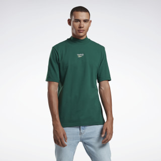 T-shirt Mock Neck Flannel Green FS6661