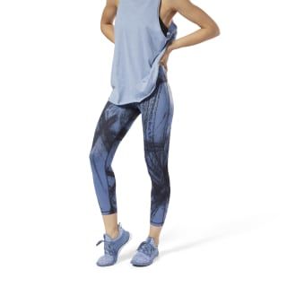 Lux Bold 7/8 Tights - Chalked Movement Blue Slate DM7733