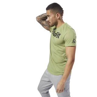 Camiseta Reebok CrossFit SpeedWick F.E.F. Camiseta Graphic Guard Green DH3705