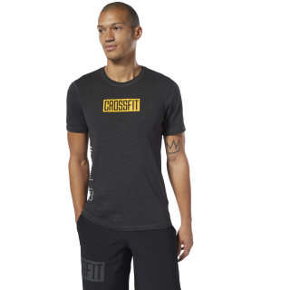 Camiseta M Crossfit Move black melange DP4588