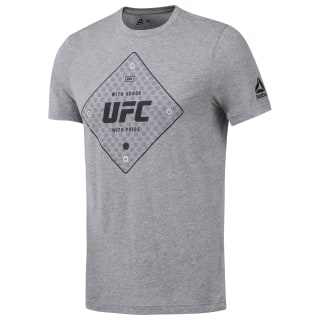 UFC Text Tee Medium Grey Heather D95026