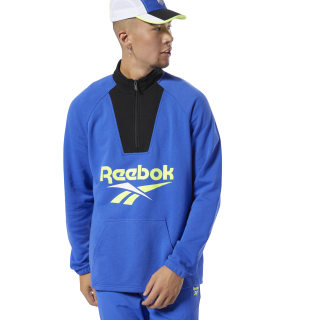 Classics Vector Quarter-Zip Sweatshirt Blue DX3821