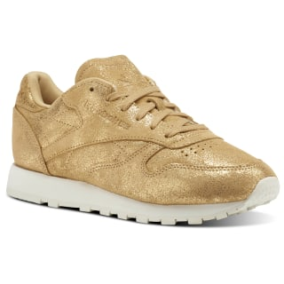 Classic Leather Shimmer Gold/Chalk CN0574