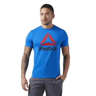 T-shirt QQR- Reebok Stacked Blue Sport CW5369