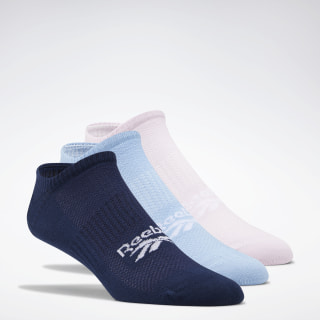 Classics Foundation Invisible Socks 3 Pairs Collegiate Navy / Fluid Blue / Pixel Pink FL9307
