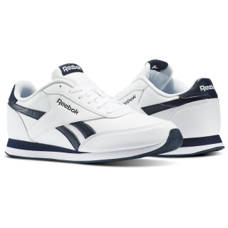 Reebok Royal Classic Leather Joggers White / Collegiate Navy AR2136