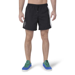 Reebok x PLEASURES Woven Shorts Black / White FH9295