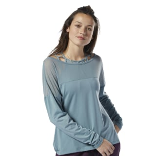 Dance Mesh Top Teal Fog / Teal Fog DU4504