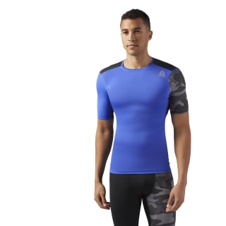 T-shirt de compression ACTIVCHILL Graphic Acid Blue CF2978