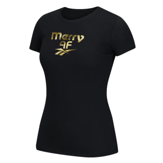 Merry AF Gold Tee Multicolor EW1565