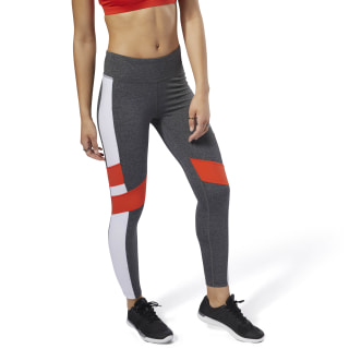 Legging Reebok Lux - Color Block Dark Grey Heather DN5896