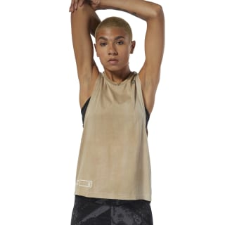 Combat Spray Dye Tank Top Light Sand DU4962