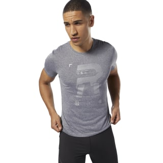 T-shirt Running Reflective Grey D92944
