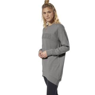 LES MILLS® Oversize Sweatshirt Dark Grey Heather DY9186