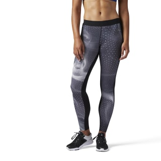 Legging de Compresión- Estampado Cymatic BLACK BQ5054