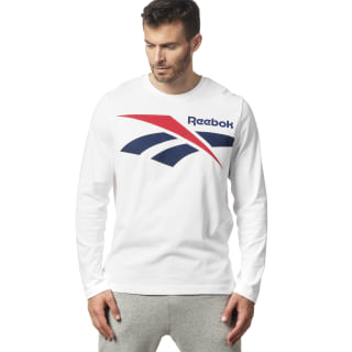 Classic Vector Long Sleeve Tee White DW9516