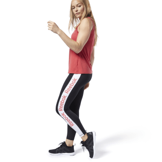 Legging avec logo linéaire Training Essentials Black EK1361