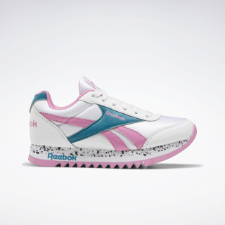 Reebok Royal CLJOG Platform 2.0 Shoes White / Seaport Teal / Posh Pink EH0978