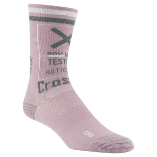 Reebok CrossFit Women Printed Crew Sock Infused Lilac CZ9892