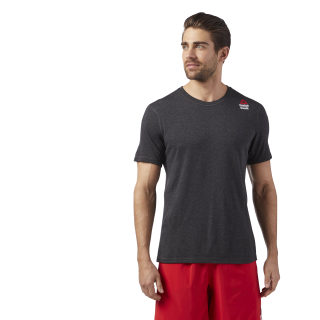 Reebok CrossFit Performance Blend Graphic Tee Black Melange/Black Melange CE2637