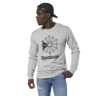 Classics French Terry Big Iconic Crewneck Medium Grey Heather/Black DT8130