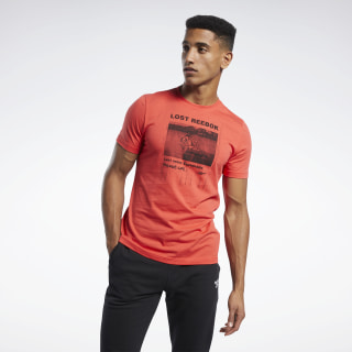 Graphic Series Lost Reebok Crew T-Shirt Radiant Red FK6017