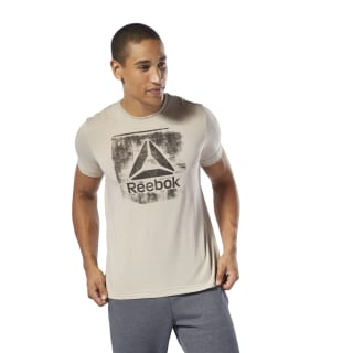 Camiseta de cuello redondo Stamped Logo Light Sand DU4679