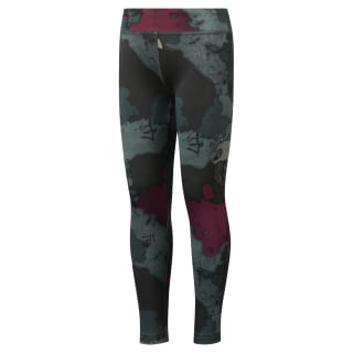Girls' Reebok AdventureTraining Leggings Chalk Green DH4293