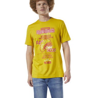 Remera Classic Leather Itl Tacos Tee Urban Yellow EA3571