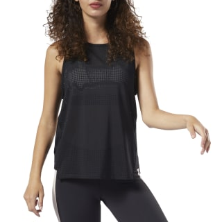 Perforated Performance Tank Top Black DY8168