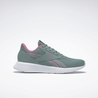 Reebok Lite 2.0 Shoes Green Slate / White / Posh Pink EH2703