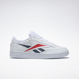 Club C 85 Shoes White / Collegiate Navy / Scarlet EH0640