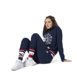 Classics French Terry Crew Collegiate Navy DH1383