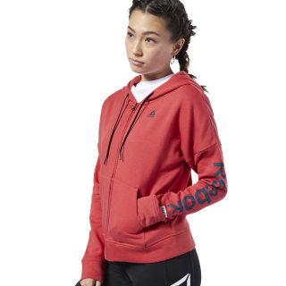 Sweat à zip intégral Training Essentials Rebel Red FI2008