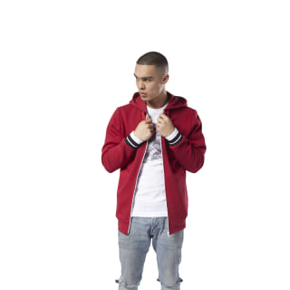 Classics Fleece Full Zip Hood Cranberry Red DH2110