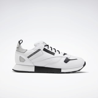 Classic Leather Ree:Dux Shoes White / Black / Silver Metallic FV3202