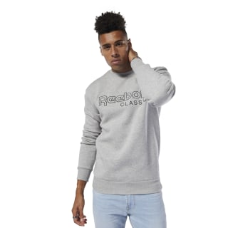 Classics Fleece Crew Reebok Sweatshirt Medium Grey Heather DT8139