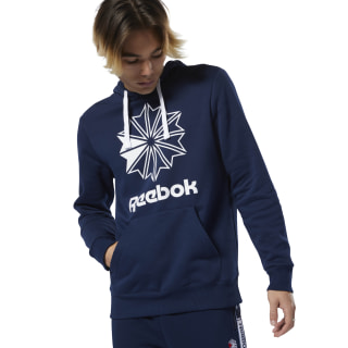 Sweat à Capuche avec grand logo Classics Collegiate Navy DT8126