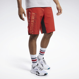 Шорты RBK MMA SHORT legacy red FJ5241