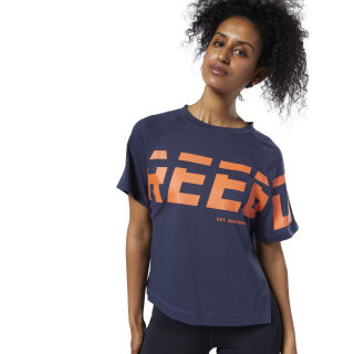 Meet You There Graphic T-Shirt Heritage Navy EC2437