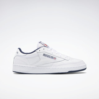 Club C 85 Men's Shoes White / White / Collegiate Navy FX3433