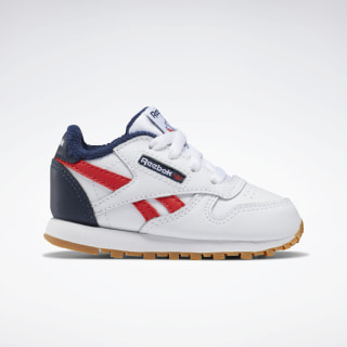 Classic Leather Shoes White / Collegiate Navy / Radiant Red EG5754