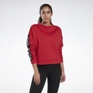 Bluza Linear Logo Crew Rebel Red FR8158