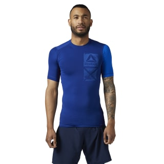 ACTIVCHILL Graphic Compression Tee Deep Cobalt BR9568